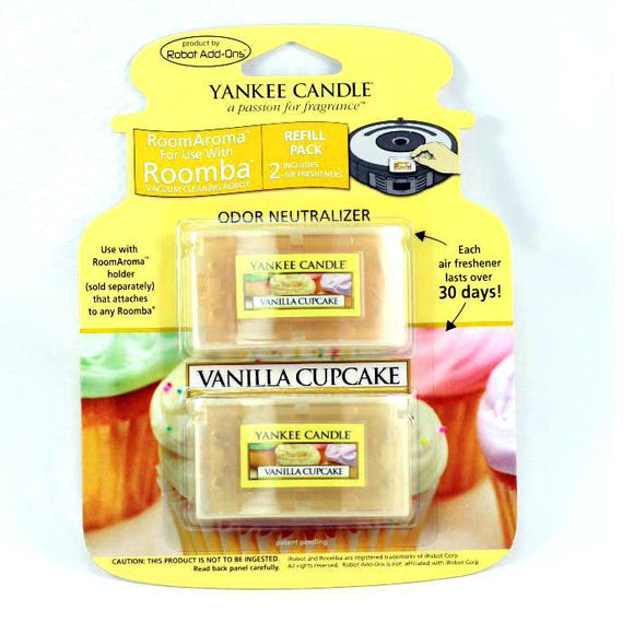Yankee Candle Air Freshener for Roomba (Vanilla Cupcake RoomAroma Refill Pack)