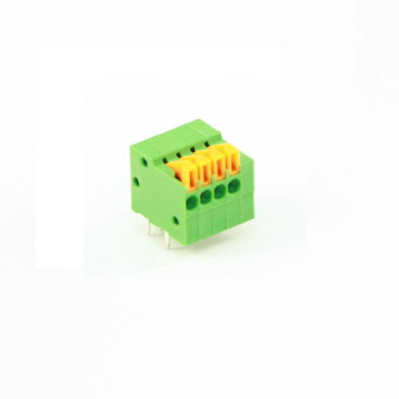 Screwless Terminal Block: 4-Pin, 0.1