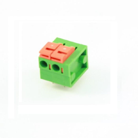 Screwless Terminal Block: 2-Pin, 0.2