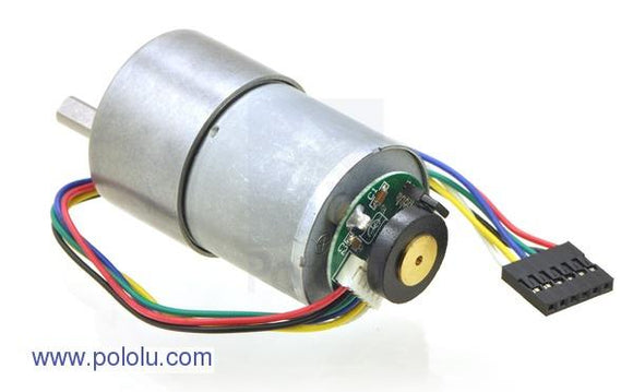 Pololu 67:1 Metal Gearmotor 37Dx54L mm with 64 CPR Encoder