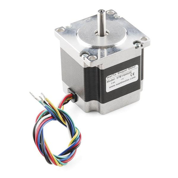 Stepper Motor NEMA 23 (125 oz-in, 200 steps/rev, 3V, 2A, Unipolar/Bipolar)