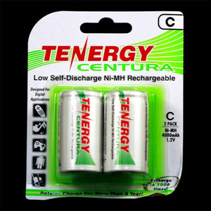TENERGY Centura Low Self-discharge Ni-MH Rechargeable Battery (2x C 1.2V 4000mAh)