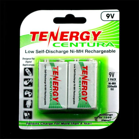TENERGY Centura Low Self-discharge Ni-MH Rechargeable Battery (2x 9V 200mAh)