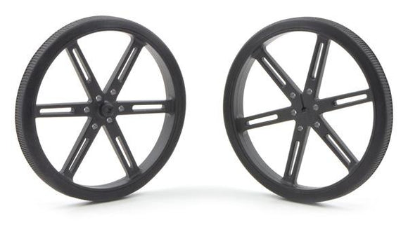Pololu Wheel 90x10mm Pair (Black)