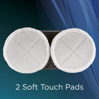 2 Pack 1611297 Genuine Bissell Soft Mop Pads for SpinWave®