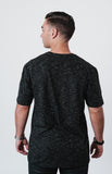 Men's Midnight Black Distressed Fashion T Shirt