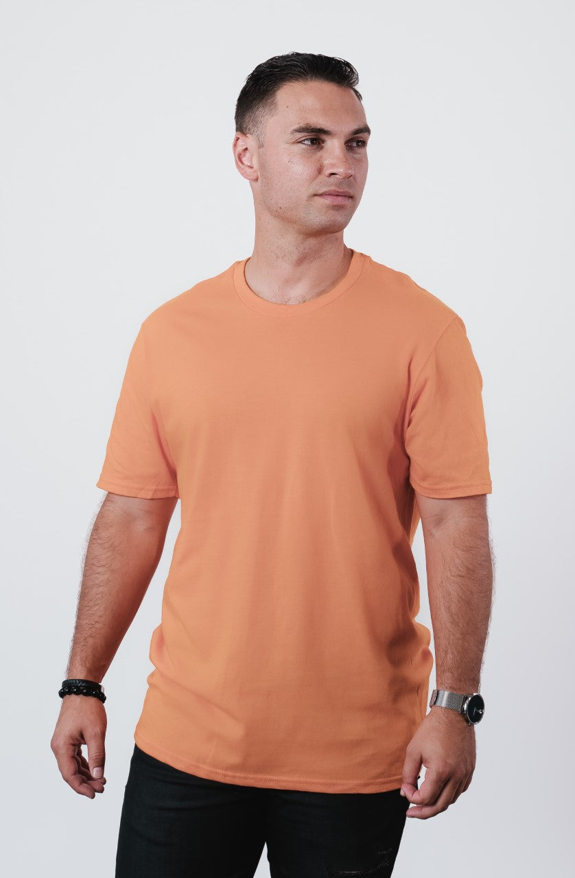 Men's Pumpkin Spice Soft Crew Neck T Shirt