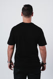 Men's Solid Black Soft Crew Neck T Shirt