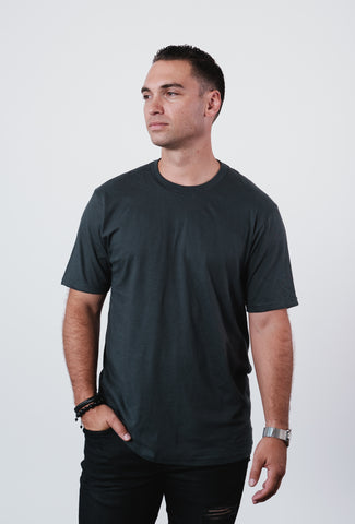 Men's Graphite Soft Crew Neck T Shirt