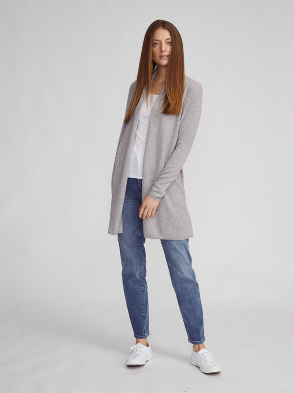 Open Cardigan with Collar