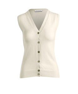 Sleeveless V-Cardigan