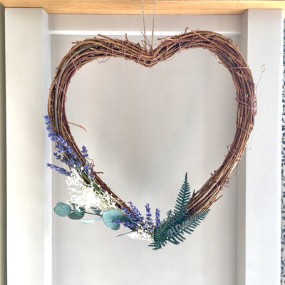 Lavender Cottage Twig Heart