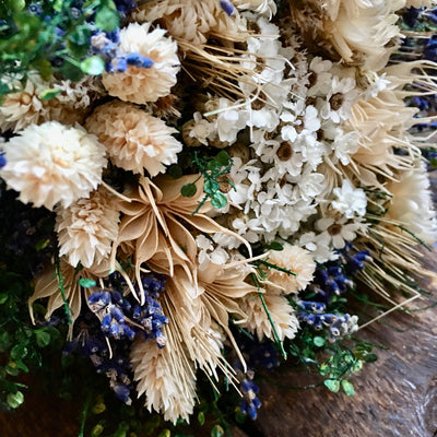 Mixed Spring Dried Flower Posy