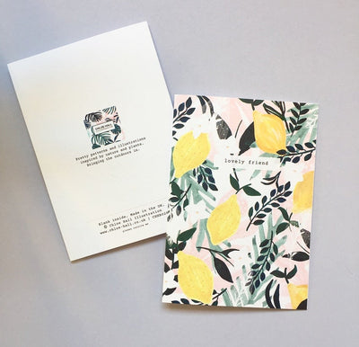 Lovely Friend Lemons Card