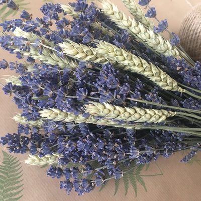 Dried Lavender and Wheat Posy