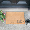 Hello Scribble Heart Grey Doormat