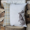 Summer Tweed Gazing Hare Cushion