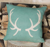 Hunter Green Antler Cushion