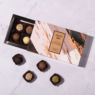 Luxury Milk, Dark and White chocolate truffle selection