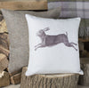 Vintage Hare Linen Cushion