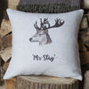 ' Mr Stag ' Linen Cushion