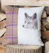 Winter Tweed Fox Cushion
