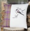Winter Tweed Bullfinch Cushion