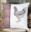 Winter Tweed Chicken Cushion