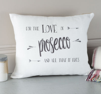 ' Prosecco ' Linen Gift Cushion