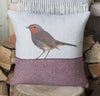 Red Robin Tweed Cushion