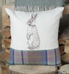 Spring Tweed Rabbit Cushion