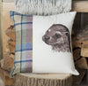 Spring Tweed Otter Cushion