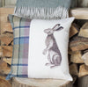 Spring Tweed Sitting Hare Cushion