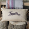 Vintage Hare Hessian Cushion