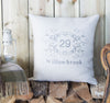 Name and House Number Personalised Cushion