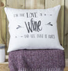' Love of Wine ' Linen Gift Cushion