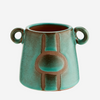 Green Terracotta Vase with Handles