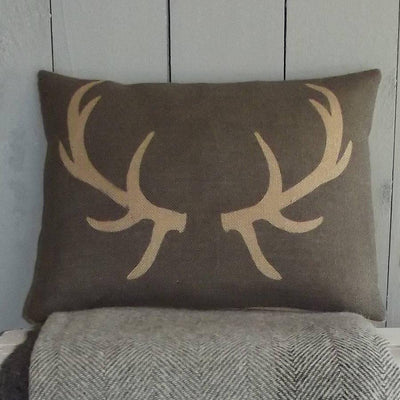' Charcoal Antler ' Cushion