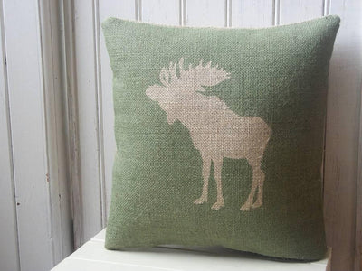 ' Moose ' Cushion (Green)