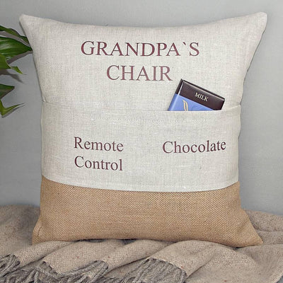 Personalised Pocket Cushion | Father's Day | Gift For Grandad
