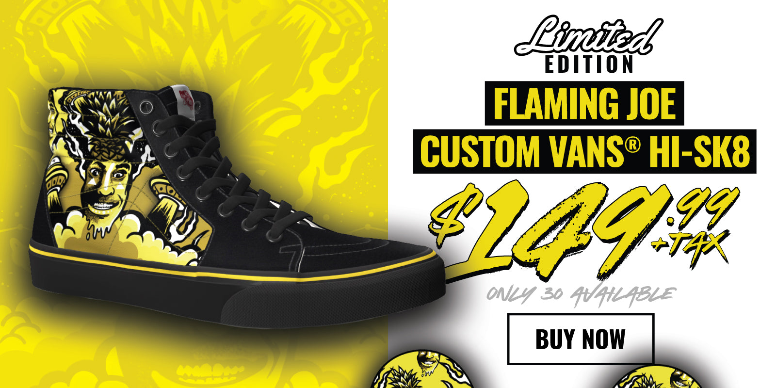 Limited Edition Custom Flaming Joe Vans