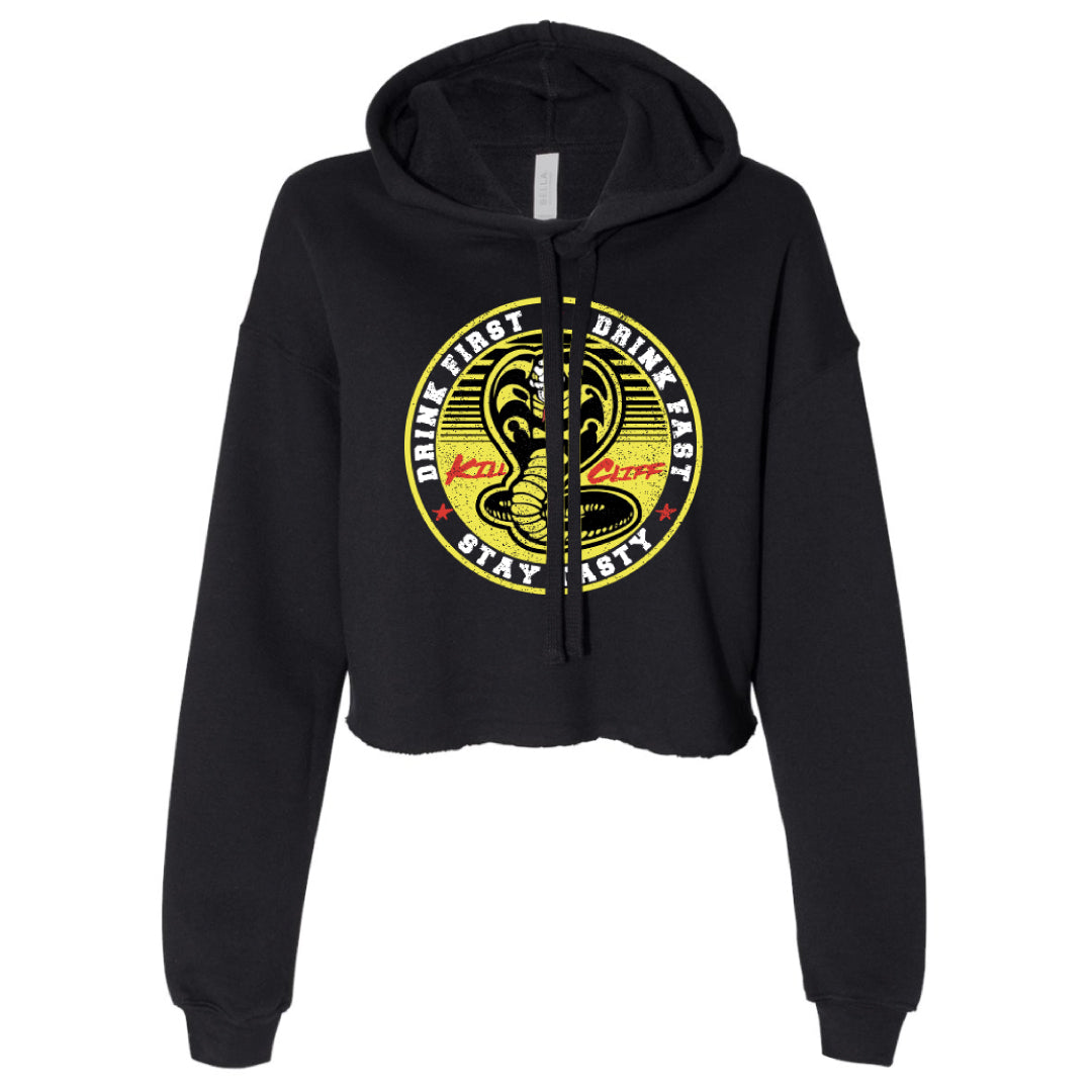 KILL CLIFF Womens Cobra Kai Cropped Hoodie