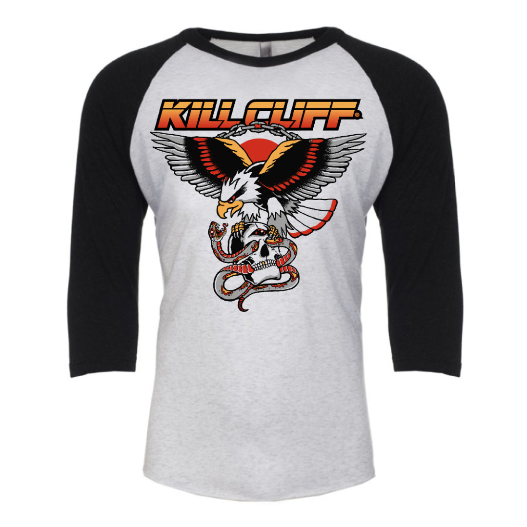 KILL CLIFF FREEDOM EAGLE 3/4 SLEEVE RAGLAN