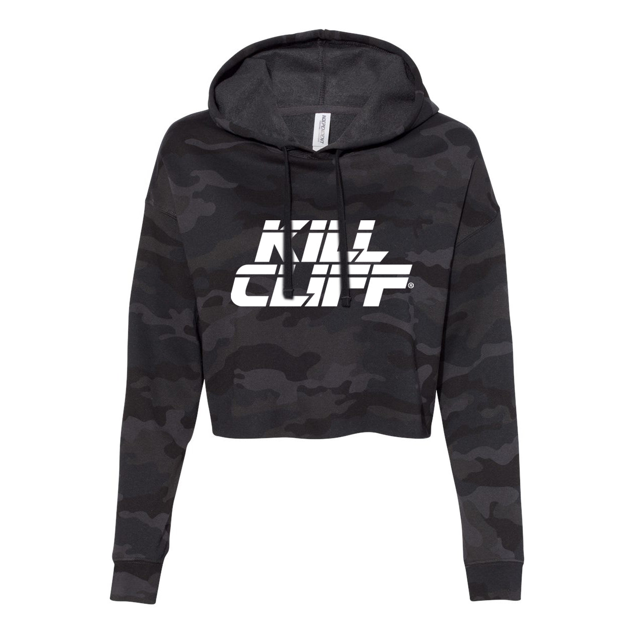 Kill Cliff Womens Black Camo Cropped Hoodie