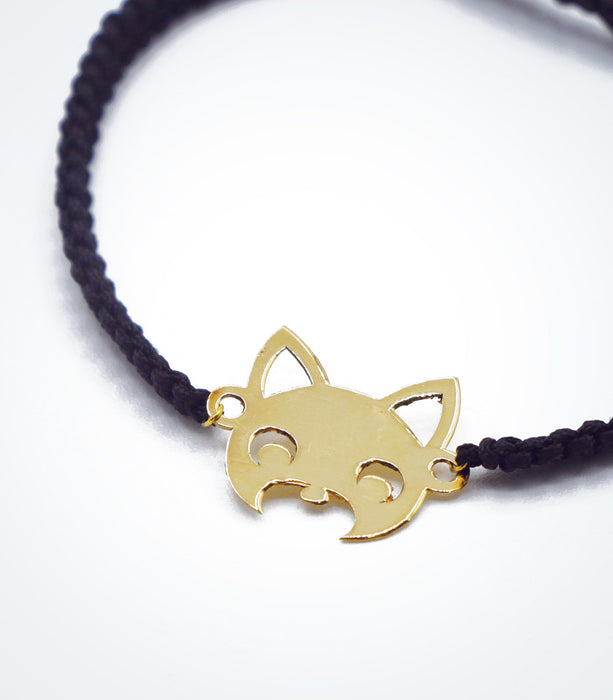 Fox motif on Shambala adjustable bracelet