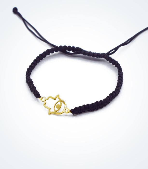 Fatima Hand motif on Shambala adjustable bracelet