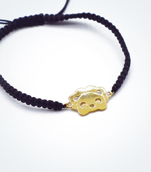 Lion motif on Shambala adjustable bracelet