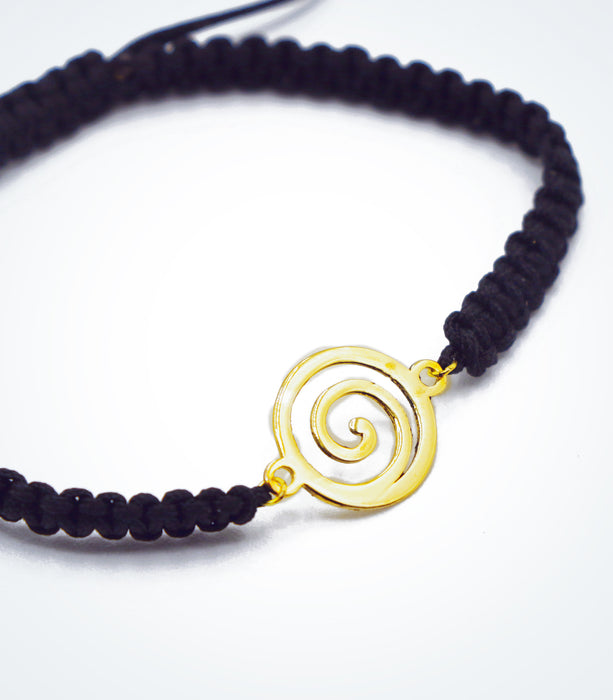 Spiral motif on Shambala adjustable bracelet