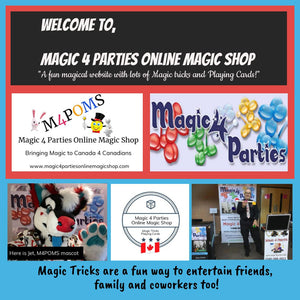 "Home page of Magic 4 Parties, ""Online Magic Shop"""