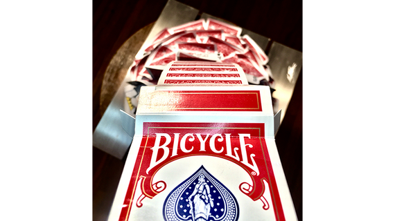Special Edition Cascading Cards Bicycle Rider Back (Red) by Keith O'Brien
